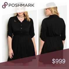 COMING SOON! (Plus) Black dress Please like this listing to be notified via price drop when it becomes available for purchase.   Availability: 1x•2x•3x • 2•2•2  🚫Current listed price is not what this will be listed at 🚫Estimated date of posting: 1/7 Dresses Long Sleeve