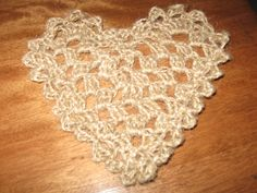 heart crochet with jute twine