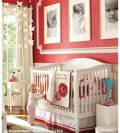 Temporary kids room color - not loving it.  Benjamin Moore Milano Red (color matched to Behr - from YHL palette)