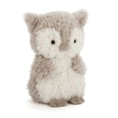 Jellycat's Little Owl is just so fluffy, she flaps around like a cuddly cloud! A scruffly bundle, she's only a chick, but she's keen to learn when she goes to night school! Play with her soft suedey feet and beak before cuddling up to her tumbly tummy. Owl Pet, Jellycat, Little Owl, Baby Owls, Pet Toys, Cuddling, Gifts For Kids, Cute Animals, Stuffed Owl