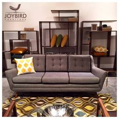 Our Eastwood sofa never looked so good.   The Justice wall unit is holding its own as well.