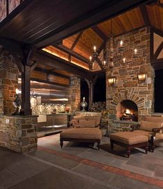 Ideas To Covered Patio Lighting Ideas Outdoor 54 Living Room Drapes, Outdoor Living Rooms, Living Room With Fireplace, Living Spaces, Outdoor Patio Designs, Outdoor Kitchen Design, Outdoor Decor, Outdoor Kitchens, Patio Ideas
