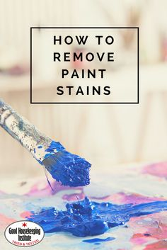 Stain removal hacks: How to remove paint stains from carpet and clothes