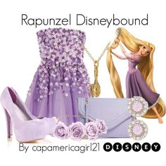 Rapunzel Disneybound by capamericagirl21 on Polyvore featuring Forever New, Disney and disneycharacter