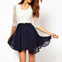Two elements I like in 1: Lace and chiffon..