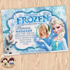 Frozen Birthday Invitation Frozen Birthday Party by printmeaparty, $9.99