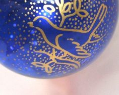 Hand blown blue glass ornament US $29.99 Used in Collectibles, Holiday & Seasonal, Christmas: Modern (1946-90)