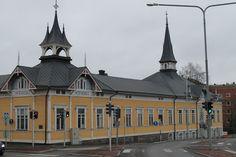 Old Lyceum in Kokkola. Central Ostrobothnia province of Western Finland - Keski-Pohjanmaa. Helsinki, Westerns, Nostalgia, Castle, Villa, Exterior, Rooms, Memories, Mansions