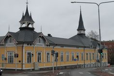 Old Lyceum in Kokkola. Central Ostrobothnia province of Western Finland - Keski-Pohjanmaa.