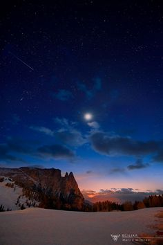 The Sciliar and the moon by Marco Milanesi South Tyrol Trentino-Alto Adige