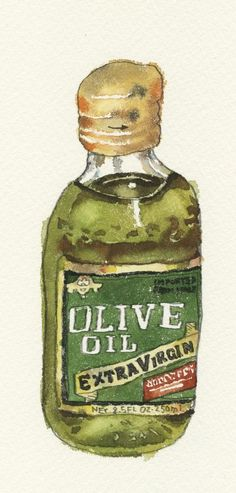 Olive oil illustration...