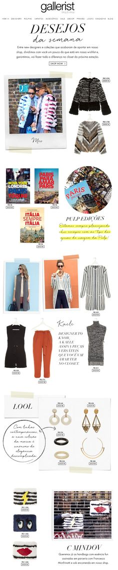 newsletter, fashion, layout, gallerist blog & shop, desejos da semana, fashion wishlist