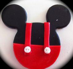 comestibles/fondant Mini ou topper cupcake Mickey par rmcakedesign