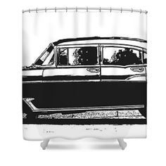 Classic Old Car Shower Curtain by Edward Fielding