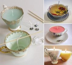 Cute DIY gift idea | candle in a cup of tea