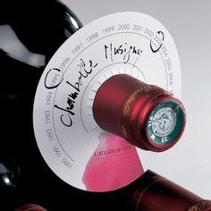 Etiquettes pour bouteille de vin en forme de disques - lot de 80 24.90