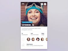 Profile UI design and animation for social iOS app. One more transition we created for this ski app. Hope you like it.  Animation done by @Lukáš Straňák