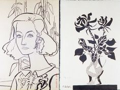 I love graphic lines in these drawings by Francoise Gilot via Design sponge