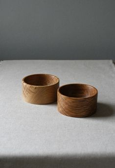 Turned Brown Oak Pots make a useful addition to your table - for nibbles or as salt and pepper pinch pots.