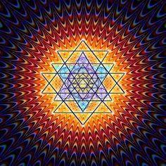 An Introduction to the Sri Yantra Mandala - Ashtar Command . Sacred Geometry Art, Sacred Art, Shri Yantra, Visionary Art, Flower Of Life, Psychedelic Art, Geometric Art, Fractal Art, Mandala Art