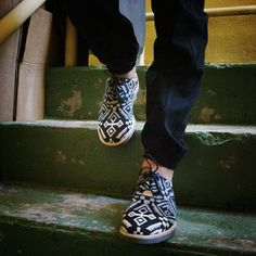 Print on shoes .