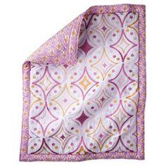 Mudhut pink, white, orange Dawn Pink Embroidered Quilt