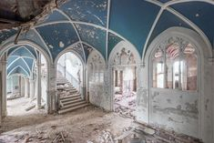 """Today in abandoned buildings porn we bring you: photos of abandoned European palaces. Photographer Mirna Pavlovic is fascinated by """"reclaiming places deemed Abandoned Buildings, Abandoned Mansion For Sale, Abandoned Castles, Abandoned Mansions, Old Buildings, Abandoned Places, Haunted Places, Mansions For Sale, Mansions Homes"""