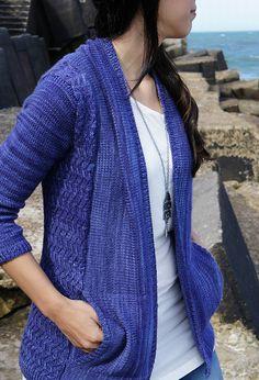 Cardigan Sweater Knitting Pattern | Joji Even Flow Cardigan Knitting Pattern