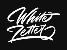White Letter designed by Arif Dwi. Lettering Design, Hand Lettering, Brush Type, White Letters, San Luis Obispo, Show And Tell, Modern Calligraphy, Typography, Quotes