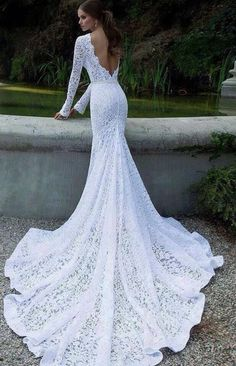 Sexy vintage wedding dress