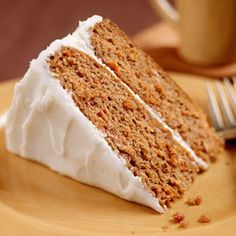 My favorite carrot cake recipe. The apple butter gives it a great flavor!