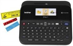Brother P-touch PC Connectible Label Maker with Color Display: Creates High Resolution Labels Up To Wide. QWERTY Keyboard And Backlit Color Graphic Display. Connects To PC/Mac Computers. Includes AC Power Adapter, USB Cable and Tze Starter Tape Best Label Maker, Label Makers, Create Labels, Brother Printers, Personalized Labels, Printing Labels, Epson, Black And Grey, Gray