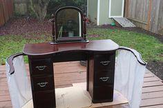 Vintage dressing table restored
