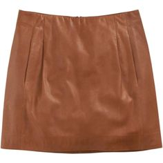 Vince Leather Mini Skirt ($495) ❤ liked on Polyvore featuring skirts, mini skirts, jupe, saia, women, brown skirt, leather mini skirts, short mini skirts, short brown skirt and brown pleated mini skirt