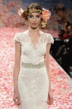 Claire Pettibone Wedding Dress Collection Fall 2013 | Bridal Musings - Photos by WWD/Steve Eichner via Brides.co.uk