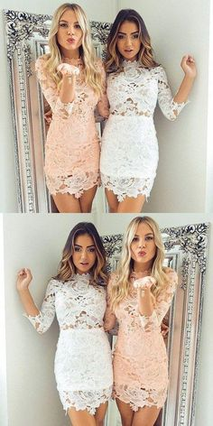 Lace Short Homecoming Dresses, Sweet 16 Dresses, Cute Short Party Dresses Source by timeea_serban 16 dresses tight Homecoming Dresses Tight, Dresses Short, Hoco Dresses, Dresses For Teens, Tight Dresses, Dance Dresses, Sexy Dresses, Dresses With Sleeves, Homecoming Ideas