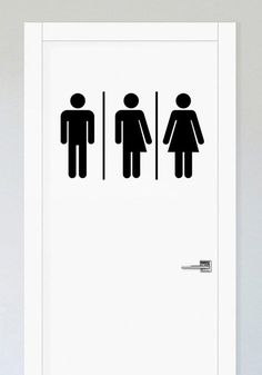 66745530a6c4 Gender-neutral bathroom sign, Unisex Restroom Signs, Restroom Signs,Toilet  Sign, Restrooms Sign, Toilet Decal, Door Sticker, Bathroom