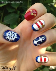 Navy Nails.   I love these