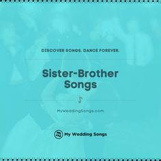 What is your favorite song for a sister-brother dance or dedication to your brother? ⠀ . You can read our list of the top sister-brother songs on our website. .  #sisterbrother