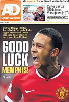 d530f48f6d0 Alongside the headline read   PSV s Depay ignores Paris Saint- Germain and  leaves for