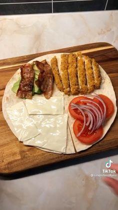 Healthy Snacks, Healthy Eating, Healthy Recipes, Mexican Food Recipes, Dinner Recipes, Wrap Recipes, Diy Food, Food Hacks, Food Videos