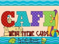 CAFE - Menu Theme Cards (Beach)