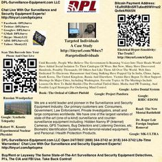 Targeted Individuals: A Case Study:   Sponsored By: DPL-Surveillance-Equipment.com Open 24/7/365! #targetedindividuals  Many Have Discovered Hundreds, Possibly Thousands, Of Others Just Like Them All Over The World. Web Sites Dedicated To Electronic Harassment And Gang Stalking Have Popped Up In India, China, Japan, South Korea, The United Kingdom, Russia And Elsewhere.