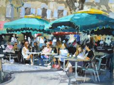Jack Morrocco, Cafe by the Fountain, Aix