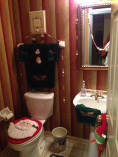Even the bathroom gets festive