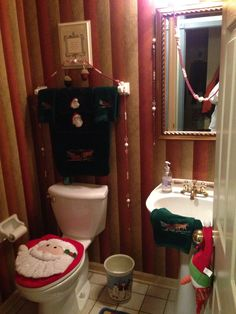 Even the bathroom gets festive