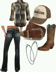Cowgirl outfit (I'll take the shirt, pants, and boots!)