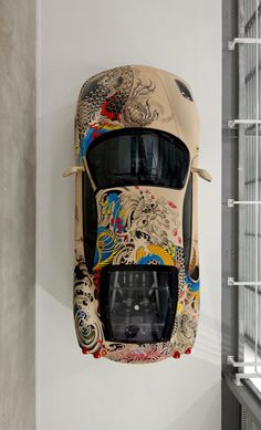 Ferarri F430 wrapped in leather and then tattooed. Win the 'ultimate supercar' experience by clicking on this #carporn
