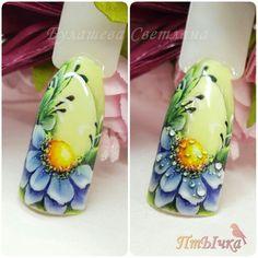 wow Creative Nail Designs, Beautiful Nail Designs, Creative Nails, Nail Art Designs, Pedicure Designs, Uñas One Stroke, One Stroke Nails, Nails First, Nails Only
