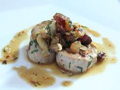 Pork Tenderloin with Bacon, Chile Flakes, Toasted Almond and Parsley